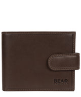 'Borge' Dark Brown Leather Bi-Fold Wallet image 1