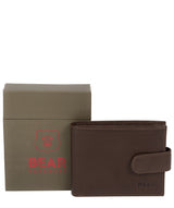 'Borge' Dark Brown Leather Bi-Fold Wallet image 4