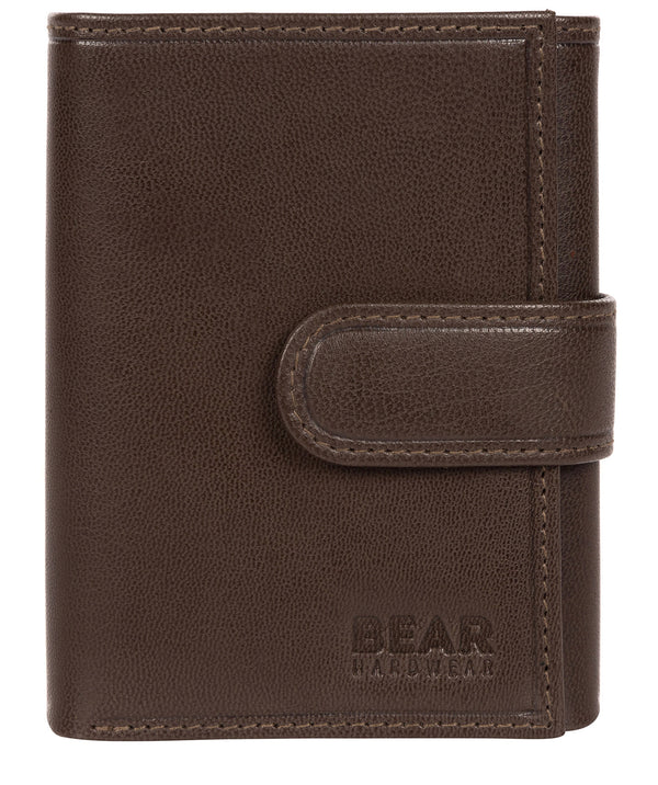 'Hannes' Dark Brown Leather Tri-Fold Wallet image 1