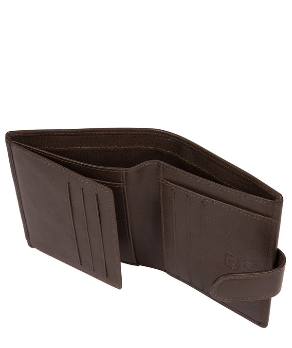 'Nilsson' Dark Brown Leather Bi-Fold Wallet image 3