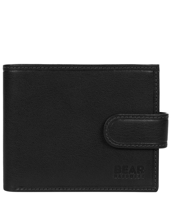 'Gunvar' Black Leather Bi-Fold Wallet image 1