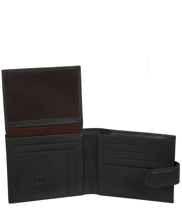 'Gunvar' Black Leather Bi-Fold Wallet image 3
