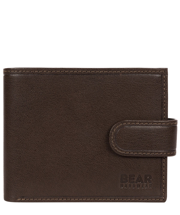 'Gunvar' Dark Brown Leather Bi-Fold Wallet image 1
