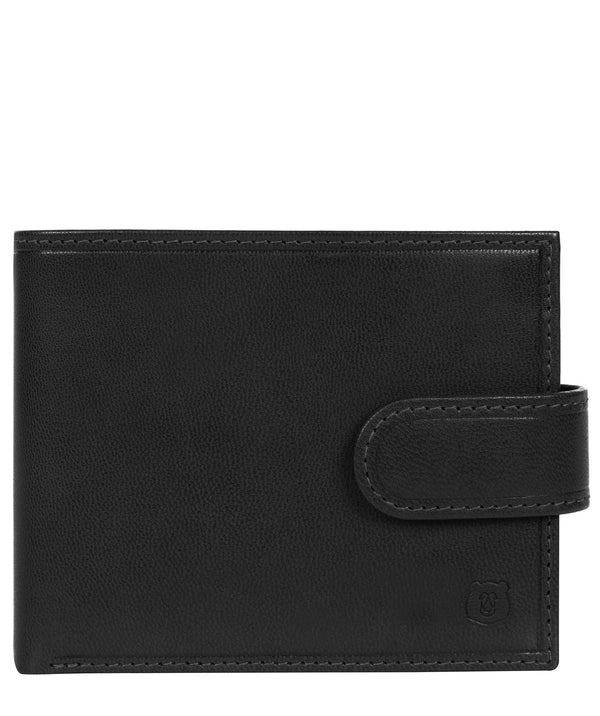 'Mortmer' Black Leather Bi-Fold Wallet image 1