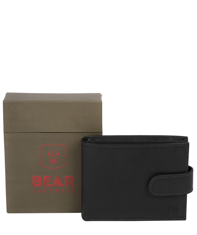 'Mortmer' Black Leather Bi-Fold Wallet image 4