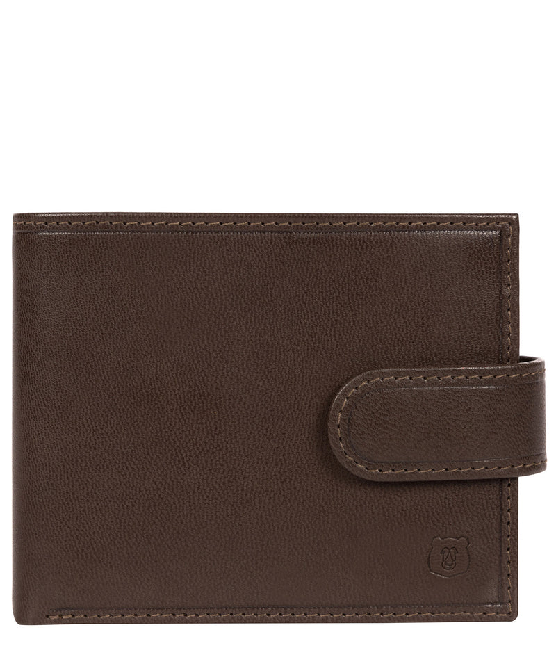 'Mortmer' Dark Brown Leather Bi-Fold Wallet image 1