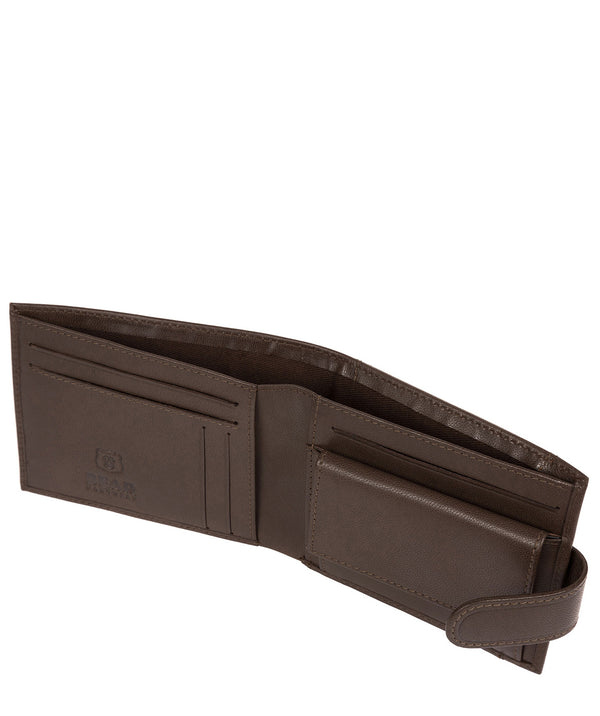 'Mortmer' Dark Brown Leather Bi-Fold Wallet image 3