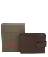 'Mortmer' Dark Brown Leather Bi-Fold Wallet image 4