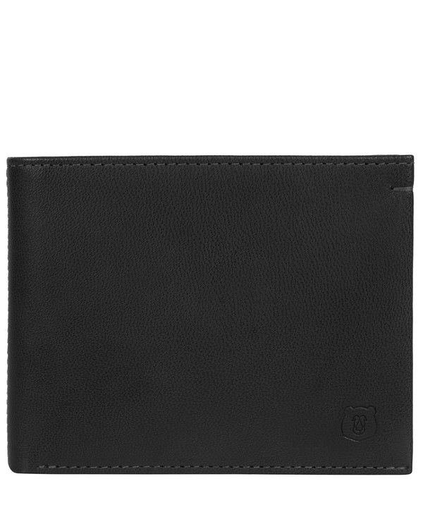 'Mercia' Black Leather Bi-Fold Wallet image 1