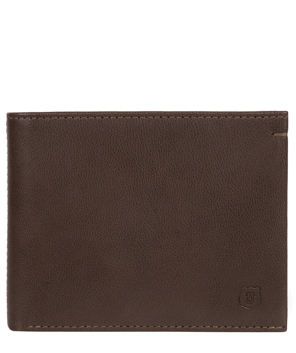 'Mercia' Dark Brown Leather Bi-Fold Wallet Pure Luxuries London