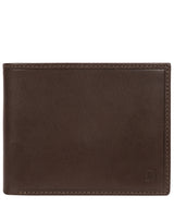'Thor' Dark Brown Leather Bi-Fold Wallet image 1