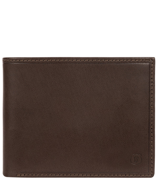 'Thor' Dark Brown Leather Bi-Fold Wallet Pure Luxuries London