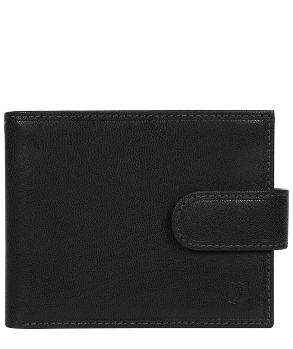 'Sigurd' Black Leather Bi-Fold Wallet image 1