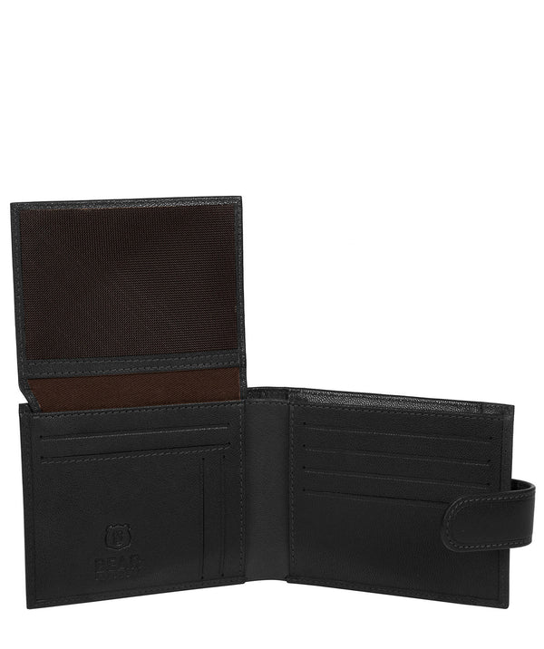 'Sigurd' Black Leather Bi-Fold Wallet image 3