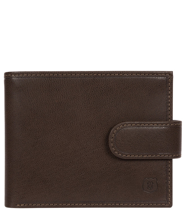 'Sigurd' Dark Brown Leather Bi-Fold Wallet Pure Luxuries London