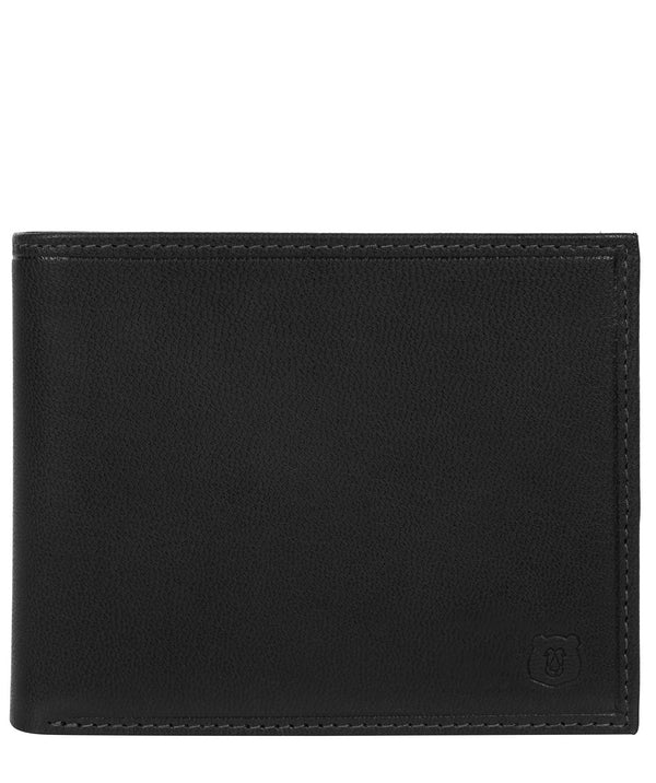 'Njord' Black Leather Bi-Fold Wallet image 1