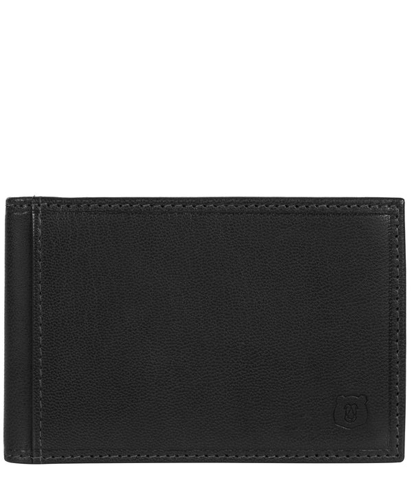 'Heidrun' Black Leather Bi-Fold Card Holder image 1