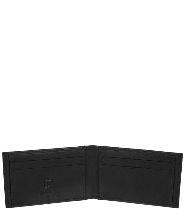 'Heidrun' Black Leather Bi-Fold Card Holder image 3