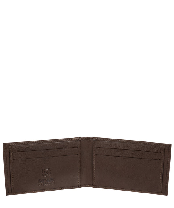 'Heidrun' Dark Brown Leather Bi-Fold Card Holder image 3