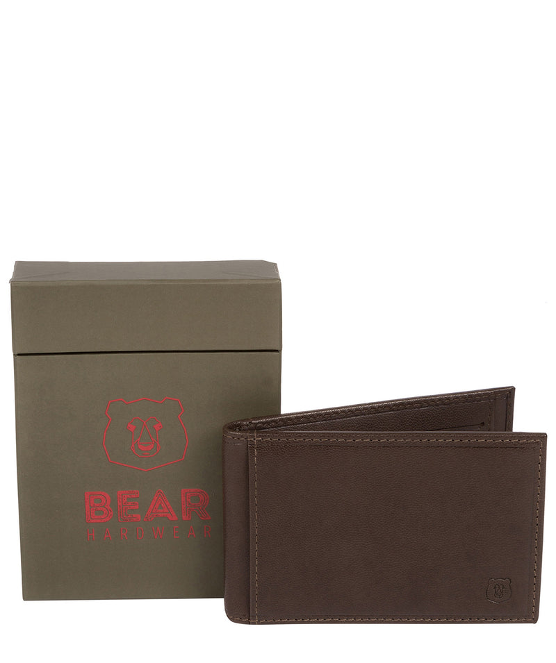 'Heidrun' Dark Brown Leather Bi-Fold Card Holder image 4
