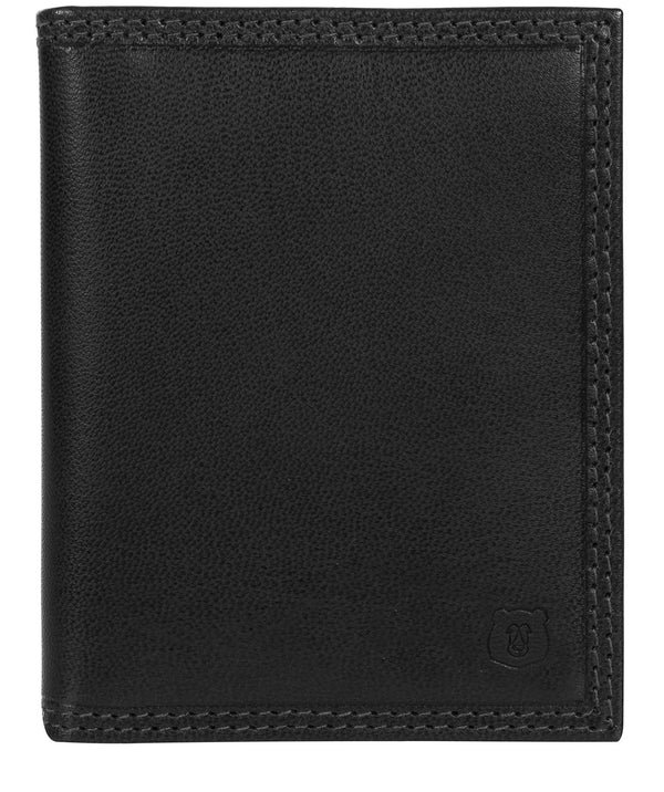 'Viggo' Black Leather Bi-Fold Card Holder image 1