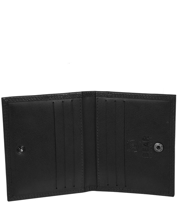 'Viggo' Black Leather Bi-Fold Card Holder image 3
