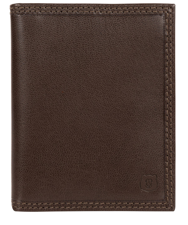 'Viggo' Dark Brown Leather Bi-Fold Card Holder image 1