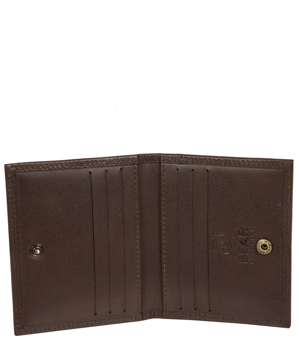 'Viggo' Dark Brown Leather Bi-Fold Card Holder image 3