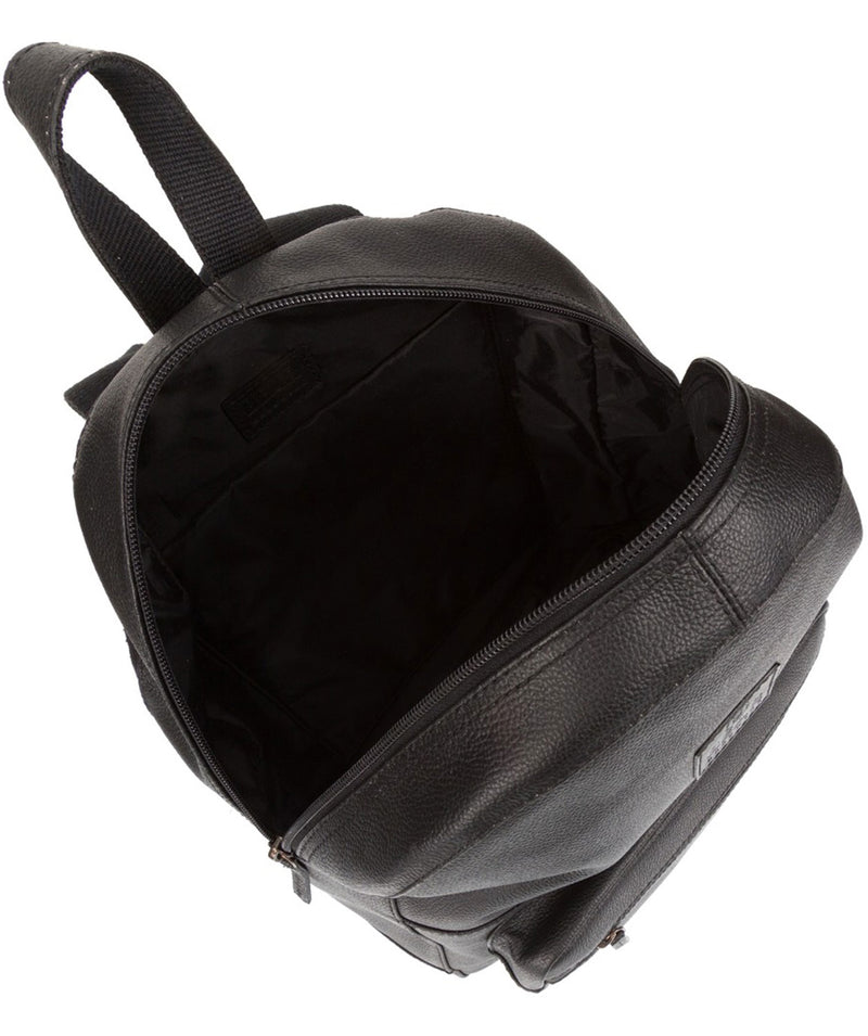 'Willow' Black Leather Backpack
