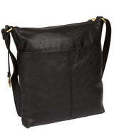 'Elva' Black Leather Cross Body Bag