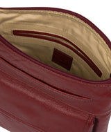 'Elva' Ruby Red Leather Cross Body Bag image 4