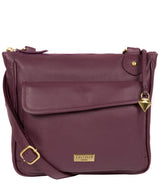 'Aria' Fig Leather Cross Body Bag image 1