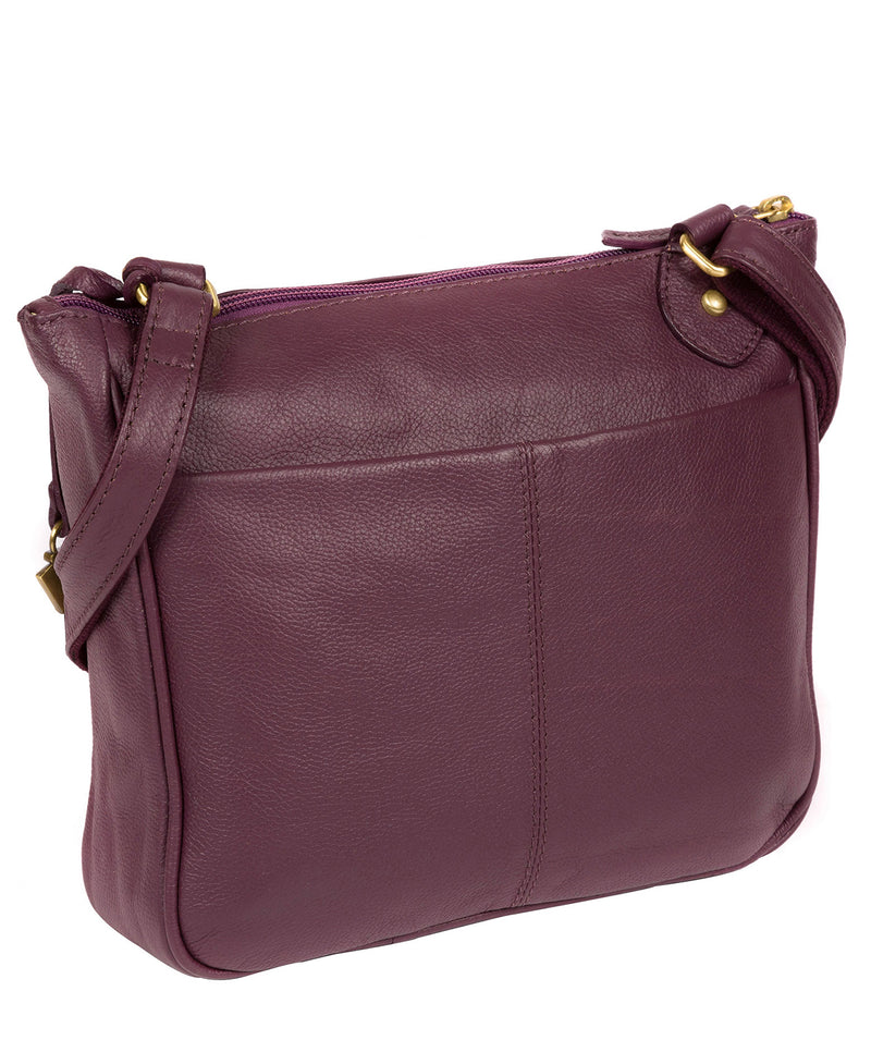 'Aria' Fig Leather Cross Body Bag image 3