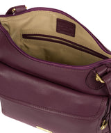 'Aria' Fig Leather Cross Body Bag image 4