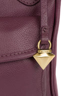 'Aria' Fig Leather Cross Body Bag image 5