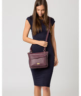 'Aria' Fig Leather Cross Body Bag image 2
