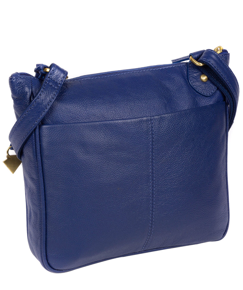 'Aria' Mazarine Blue Leather Cross Body Bag image 3