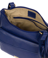'Aria' Mazarine Blue Leather Cross Body Bag image 4