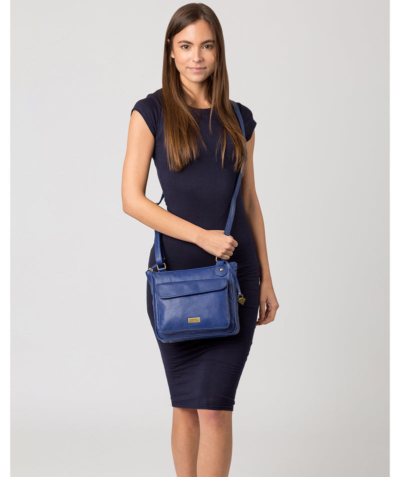 'Aria' Mazarine Blue Leather Cross Body Bag image 2