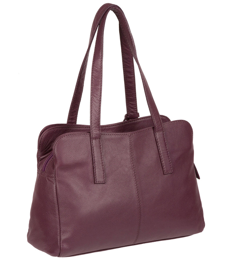 'Liana' Fig Leather Handbag