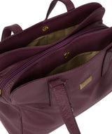'Liana' Fig Leather Handbag image 5