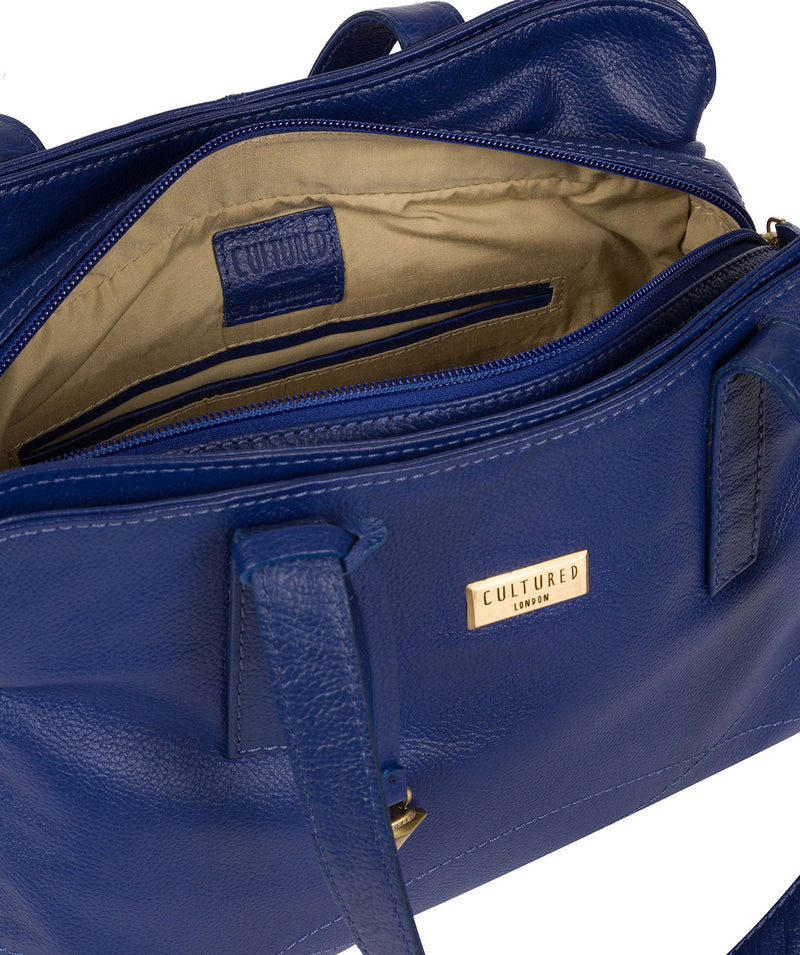 'Liana' Mazarine Blue Leather Handbag image 4