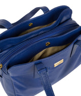 'Liana' Mazarine Blue Leather Handbag image 5