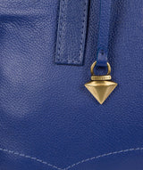 'Liana' Mazarine Blue Leather Handbag image 6