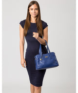 'Liana' Mazarine Blue Leather Handbag image 2