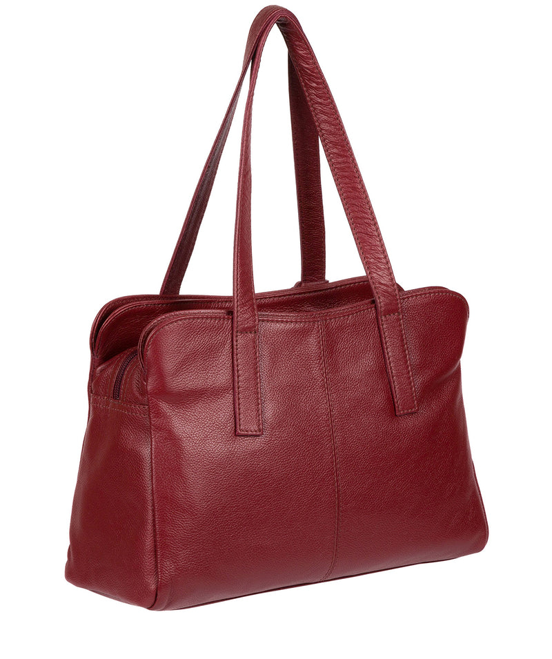 'Liana' Ruby Red Leather Handbag