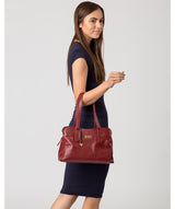 'Liana' Ruby Red Leather Handbag image 2
