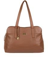 'Liana' Tan Leather Handbag
