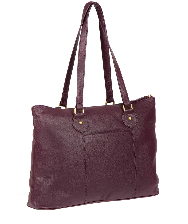'Idelle' Fig Leather Tote Bag image 3