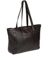 Farah' Black Leather Tote Bag image 3